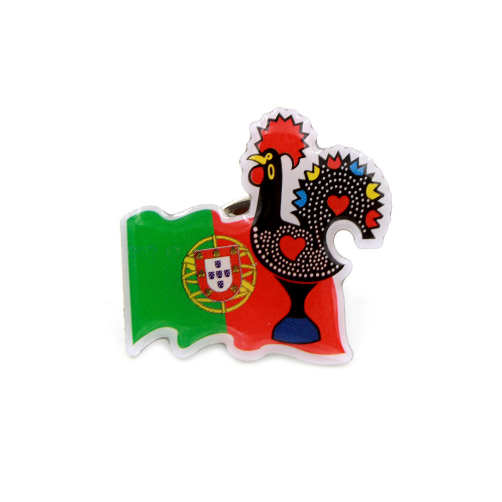 Traditional Portuguese Rooster Pin Souvenir From Portugal