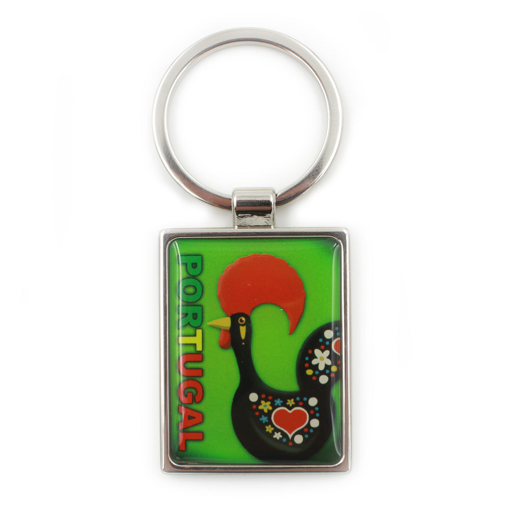 Traditional Portuguese Rooster Metal Keychain #17285