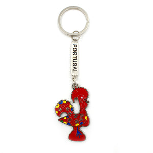 Traditional Portuguese Aluminum Good Luck Rooster Keychain