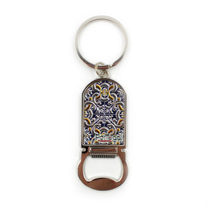 Traditional Portuguese Tile Keychain With Bottle Opener
