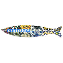 Load image into Gallery viewer, Traditional Portuguese Ceramic Refrigerator Magnet Sardine