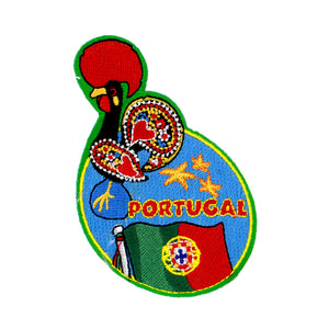 Portuguese Rooster Embroidered Badges for Clothes