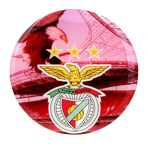 4 Inch Large Round SL Benfica Resin Domed 3D Decal Car Sticker