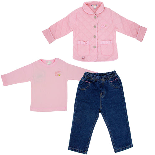 Maiorista Baby Shirt, Jeans and Jacket Set