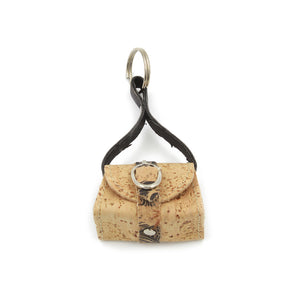Handmade 100% Natural Portuguese Cork Mini Wallet Keychain