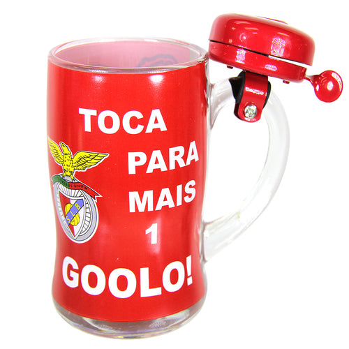 SL Benfica Beer Mug With Bell And Gift Box Officially Licensed Product