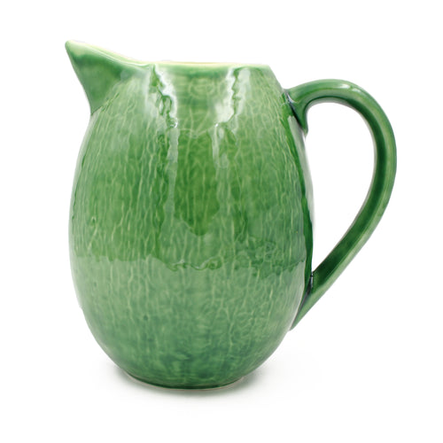 Hand-painted Traditional Portuguese Ceramic Cabbage Pitcher #404