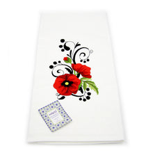 Set of 4 - 100% Cotton Decorative Embroidered Kitchen Dish Towels