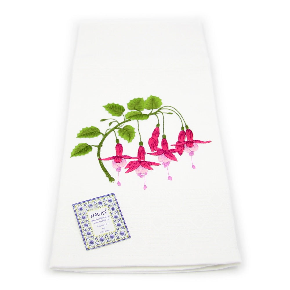 100% Cotton Floral Decorative Embroidered Kitchen Dish Towels
