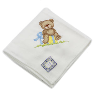 Mawiss Embroidered Baby Boy Cloth Diapers Made in Portugal - Set of 4