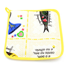 Load image into Gallery viewer, 100% Cotton Oven Mitt and Pot Holder Set With Rooster & Sardine Design - Various Colors