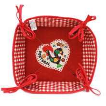 Load image into Gallery viewer, 100% Cotton Bread Basket With Traditional Portuguese Rooster - Various Colors