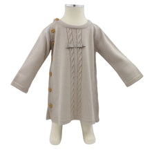 Load image into Gallery viewer, Minhon Light Brown Baby Girl Long Sleeve Dress Set 6-12 Months