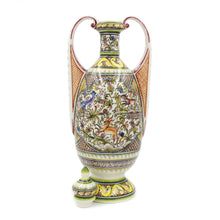 Load image into Gallery viewer, Coimbra Ceramics Hand-painted Large Covered Jar XVII Cent Recreation #281-3
