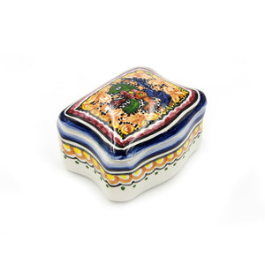 Coimbra Ceramics Hand-painted Decorative Jewelry Box XV Century Replica #232