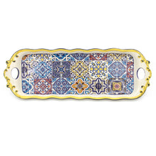 Load image into Gallery viewer, Hand-painted Portuguese Decorative Ceramic Serving Tart Tray