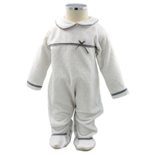 Load image into Gallery viewer, Pim-Pam-Pum White Babygrow Footed Sleep and Play 1-3 Months