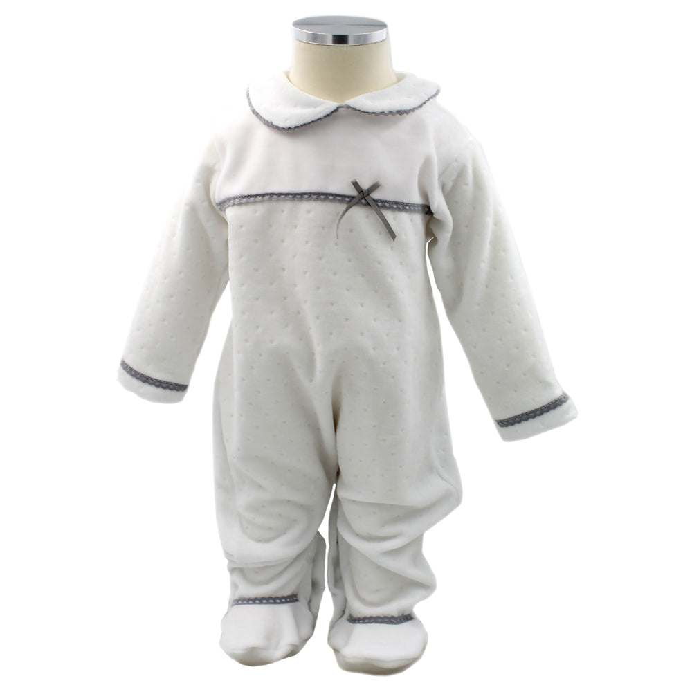 Pim-Pam-Pum White Babygrow Footed Sleep and Play 1-3 Months