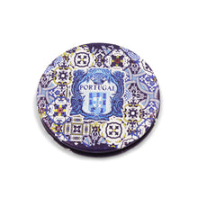 Load image into Gallery viewer, Traditional Portuguese Tile Metal Pocket Mirror Souvenir