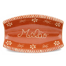 Load image into Gallery viewer, Traditional Portuguese Pottery Hand-painted Vintage Clay Terracotta Melon Serving Tray