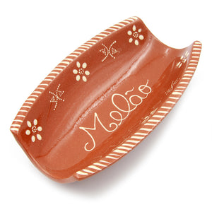 Traditional Portuguese Pottery Hand-painted Vintage Clay Terracotta Melon Serving Tray