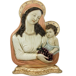 "17"" Virgin Mary Mother With The Child Jesus Statue #615"