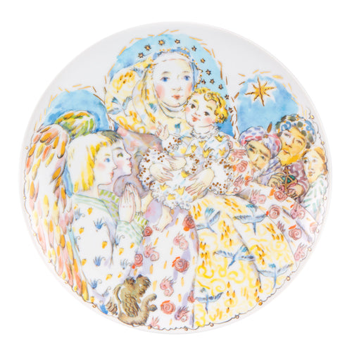 Vista Alegre Decorative Collectible Christmas Plate 2018 by Katya G. Bosky