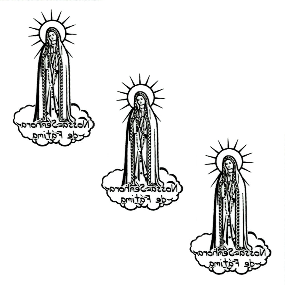 Our Lady of Fatima Interior Use Die Cut Sticker - Set of 3