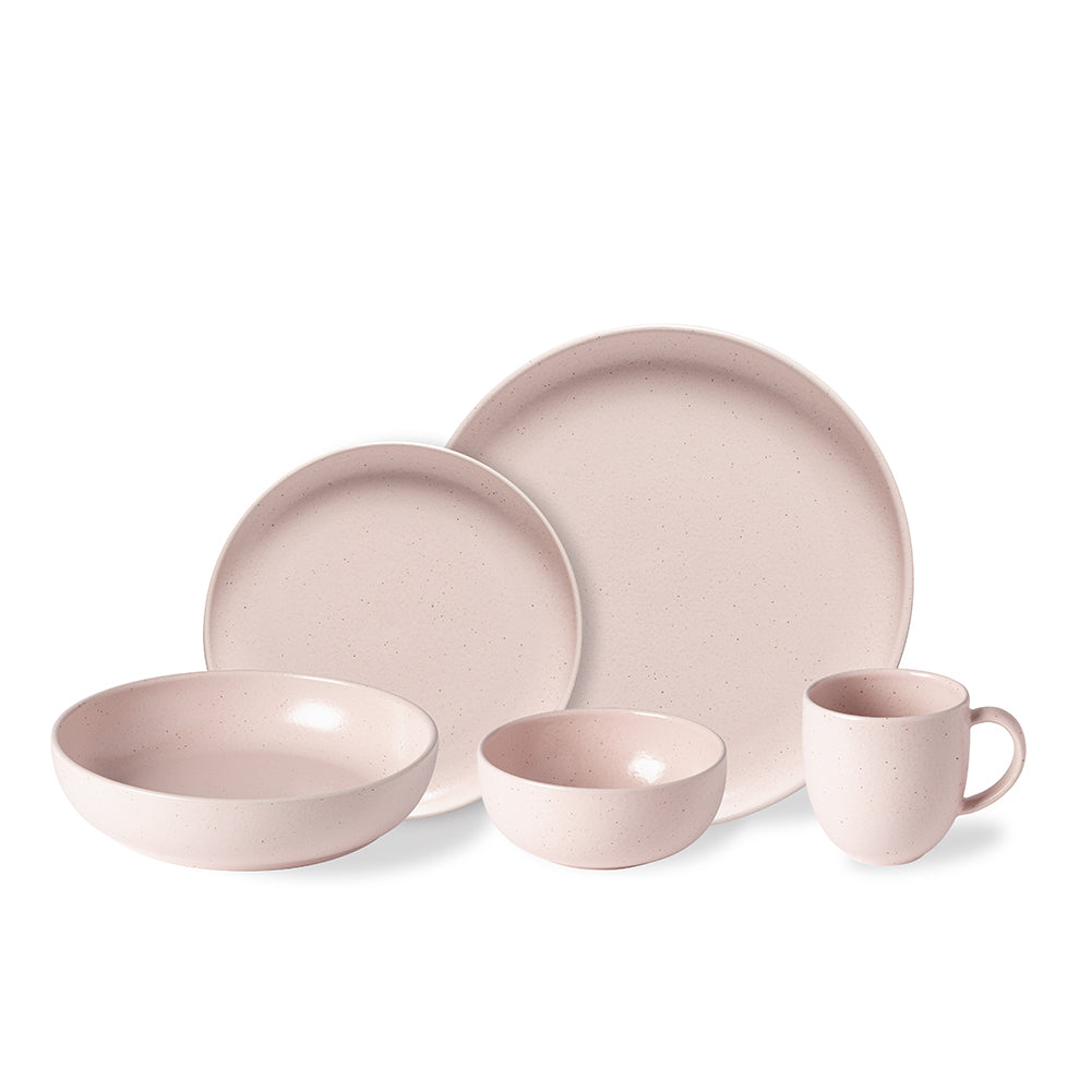Casa Stone By Casafina casafina stoneware pacifica collection 5-piece dinnerware set - marshmallow  rose