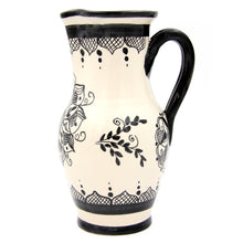 Hand-painted Vintage Traditional Portuguese Terracotta 33.8 fl. oz. Pitcher