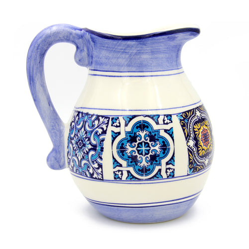 Hand-painted Traditional Portuguese Ceramic Pitcher