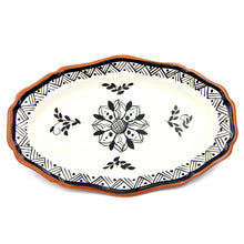 Hand-painted Vintage Traditional Portuguese Terracotta Serving Platter