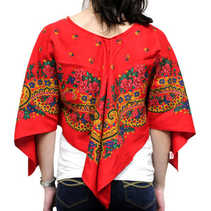 Viana Scarf Red Poncho Made in Portugal