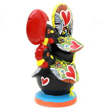 Hand-painted Traditional Portuguese Clay Decorative Rooster With Chicken