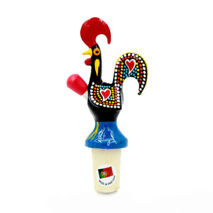Hand-painted Traditional Portuguese Aluminum Rooster Bottle Spout