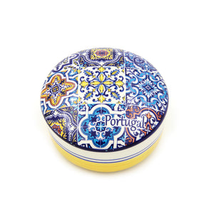 Hand-painted Decorative Traditional Portuguese Ceramic Round Jewelry Box