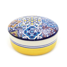 Load image into Gallery viewer, Hand-painted Decorative Traditional Portuguese Ceramic Round Jewelry Box