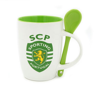 Sporting CP Coffee Mug with Spoon and Gift Box Officially Licensed Product SP0808