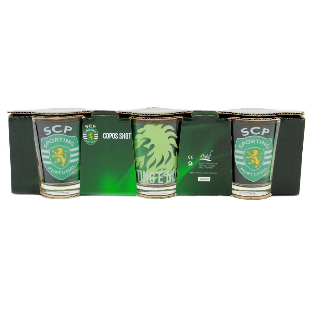 Sporting CP Set of 3 Shot Glasses Officially Licensed Product SP0859