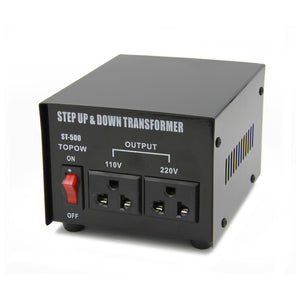 500W Watt 110 to 220 Electrical Power Voltage Converter Transformer 220 to 100