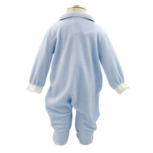 Pim-Pam-Pum Blue Babygrow Footed Sleep and Play 1-3-6 Months