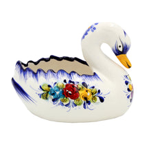 Load image into Gallery viewer, Hand-painted Decorative Traditional Portuguese Ceramic Swan #668