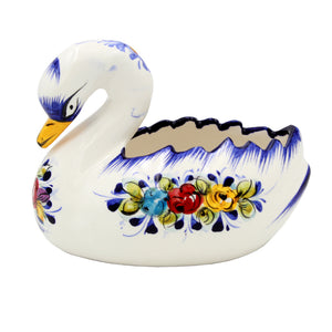 Hand-painted Decorative Traditional Portuguese Ceramic Swan #668