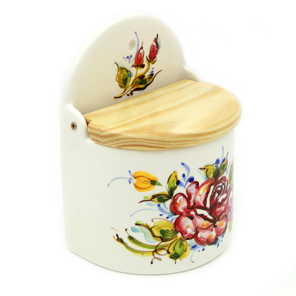 Hand-painted Decorative Traditional Portuguese Ceramic Salt Holder