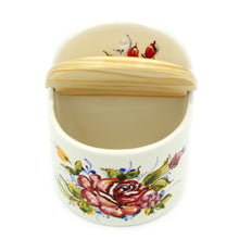Load image into Gallery viewer, Hand-painted Decorative Traditional Portuguese Ceramic Salt Holder