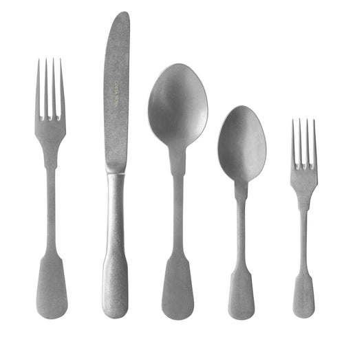Costa Nova Saga Matte 20 Piece 18/10 Stainless Steel Flatware Set
