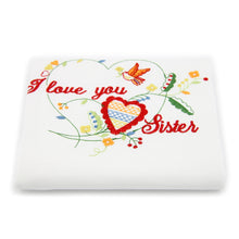 100% Cotton Family Themed Decorative Embroidered Kitchen Dish Towels