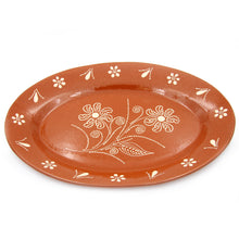 Load image into Gallery viewer, Traditional Portuguese Pottery Hand-painted Vintage Clay Terracotta Serving Platter