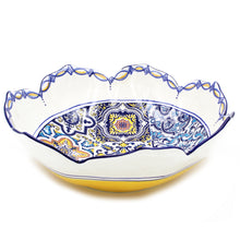 Load image into Gallery viewer, Hand-painted Traditional Portuguese Ceramic Tulip Salad Bowl