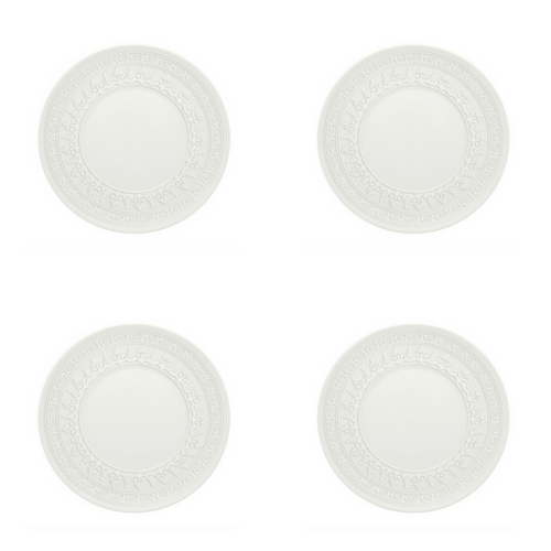 Vista Alegre Porcelain Ornament Bread & Butter Plate - Set of 4